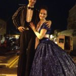 Stilt Walking Littleton Block Party 2016 - George Peele and Katie Mesmerie