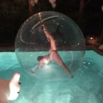 Mesmerie Entertainment - Gatsby Pool Party 2016 - contortionist in bubble 1