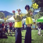 mesmerie-entertainment-bumblebee-stilt-walkers-boulder-pollinators-festival-9-24-16