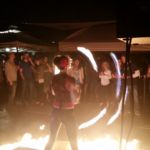 Katie Mesmerie _ Ground Fire with Fire Hoop