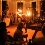 Katie Mesmerie Fire Hoop Wedding Reception The Savoy - SMALL