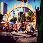 "Mesmerie Entertainment - EXCLUSIVE ""Rig of Fire"" - Aerial rig can be lit with fire or LED rope"